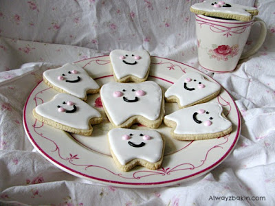 Cute Teeth Decorated Sugar Cookies