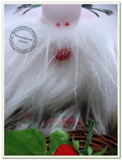 Кукла ручной работы Домовой Клубничкин