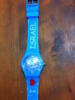 Reloj pulsera I Love Israel 4 x 3.5 ctms.