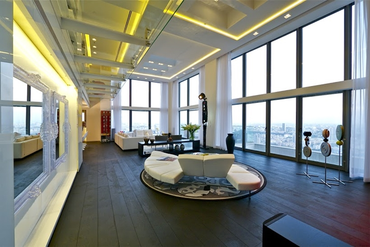 Best Living Room Ever world of architecture: one of the best penthouses for sale ever!