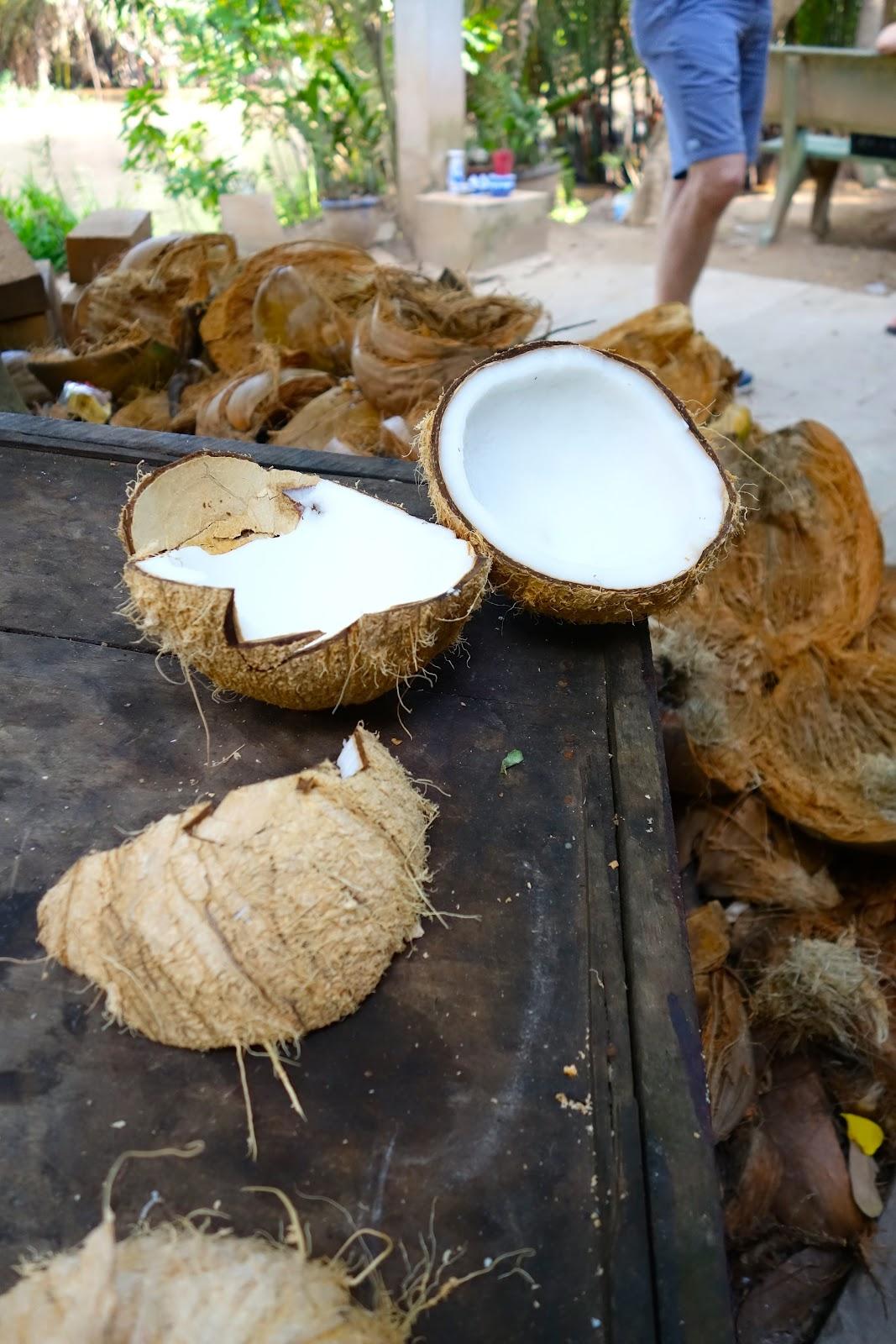 Coconut Candy Factory in Mekong Delta Vietnam 2015