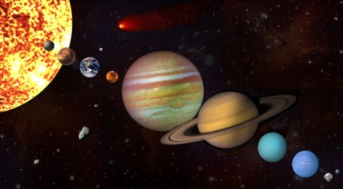 Ilustración del Sistema Planetario Solar