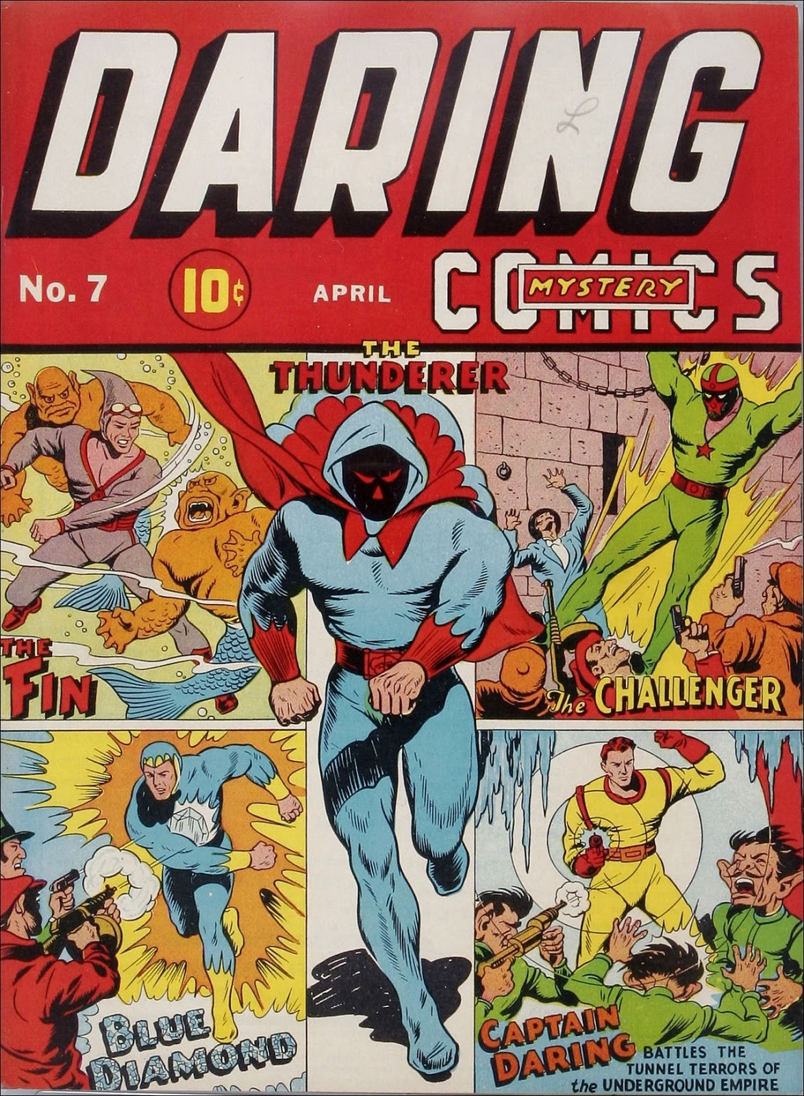 Daring Mysteryics #3, April 1940 Cover By Alex Schomburg