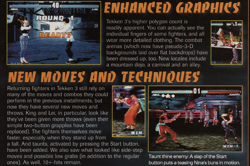 Tekken Magazine Scan EGM
