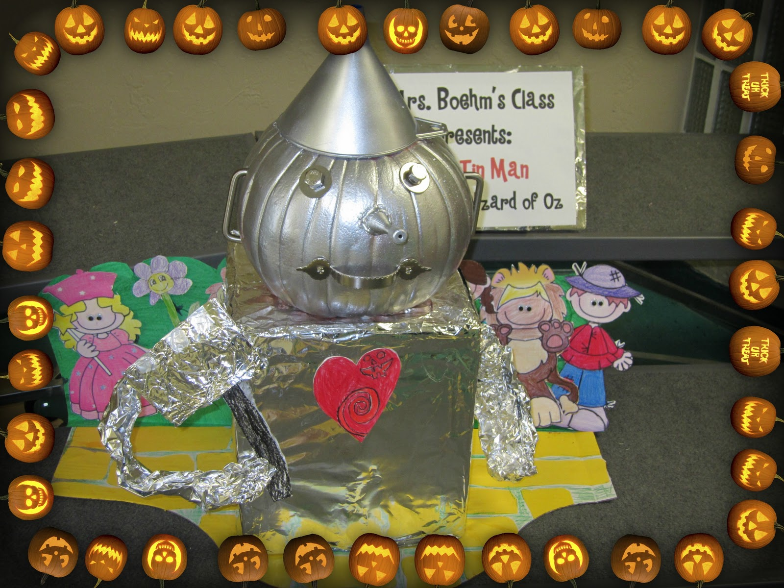 Pumpkins Decorated Like Book Characters