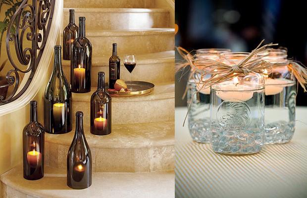 decoracao casamento garrafas de vidro:SABORES E SONS: IDÉIAS COM VIDROS DE CONSERVA