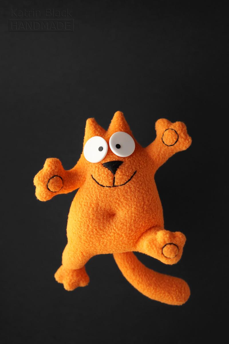 Котик Саймон с гнущимися лапками! На проволочном каркасе.