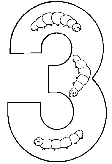 coloring pages for kids number three 3 coloring pages - 3 Coloring Page
