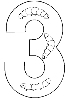 Coloring Pages For Kids Number Three 3 Coloring Pages
