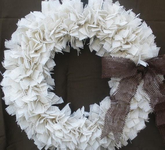multinotas decoraci n navide a coronas blancas