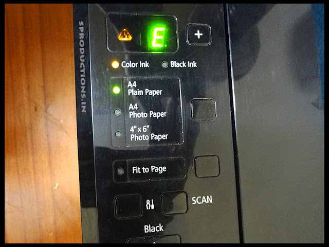 Canon E16 printer error