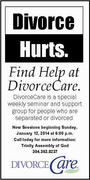 Divorce Care starts January 12th