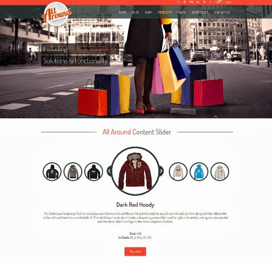 All Around - Universal WordPress Shop Template