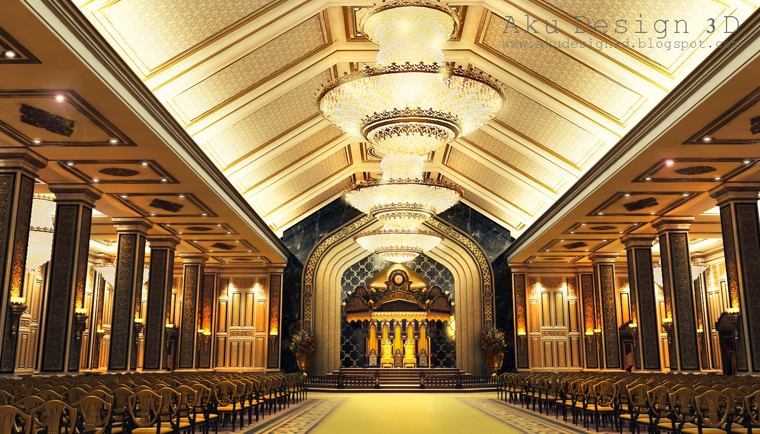 Aku design 3d istana negara jalan duta national palace for Duta villa interior design