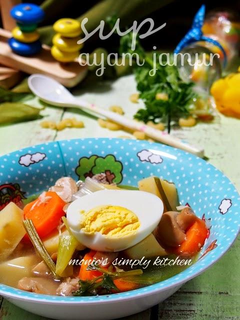 resep sup ayam jamur