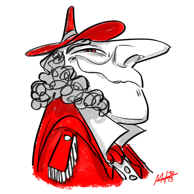 Squiggle Red Hat