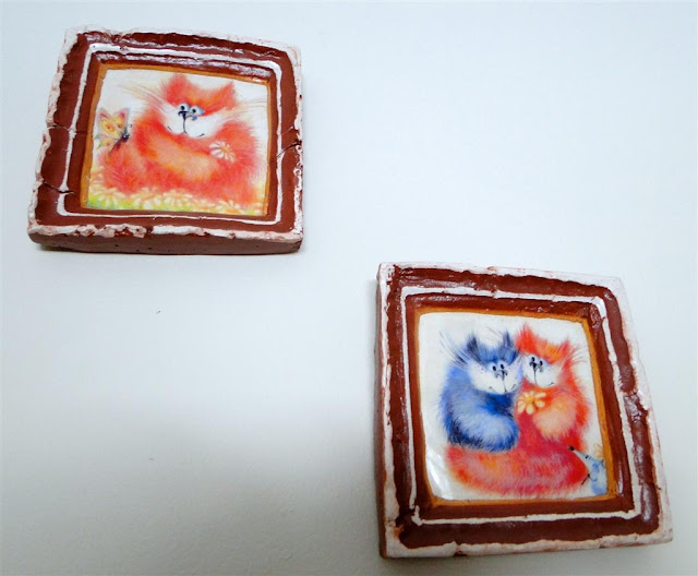 Cute Cats Ceramic Pictures from West Ukraine