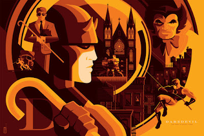 """Daredevil"" Variant Marvel Screen Print by Tom Whalen"