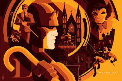 """Daredevil"" Variant Marvel Screen Print by Tom Whalen"
