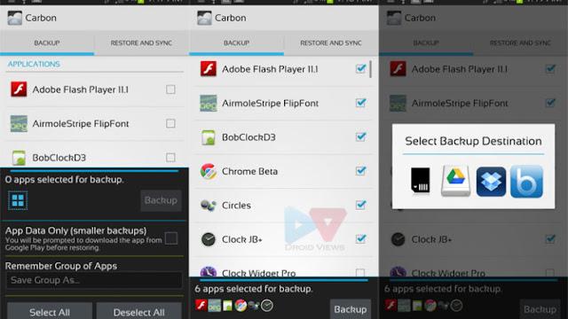 Haz copias de seguridad en tu Android sin ser ROOT con Carbon