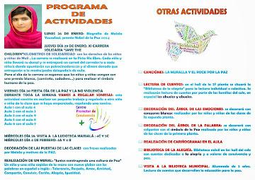 Actividades para el Día de la Paz.