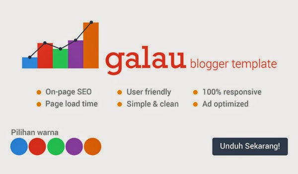 Galau Blogger Template: Template SEO friendly yang simple!