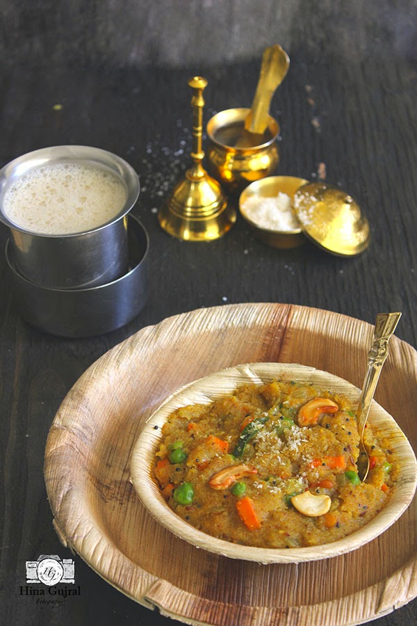 Khara Bhath (Vegetable Rava Upma)
