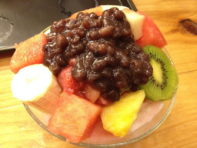 Fruit Milk Bingsu at Homilbat in Sinchon