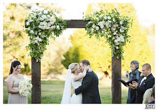 Adam and Abbey seal their wedding vows with a kiss - Patricia Stimac Seattle Wedding Officiant