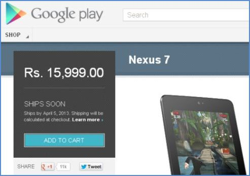 Google Business steps in India - Nexus 7