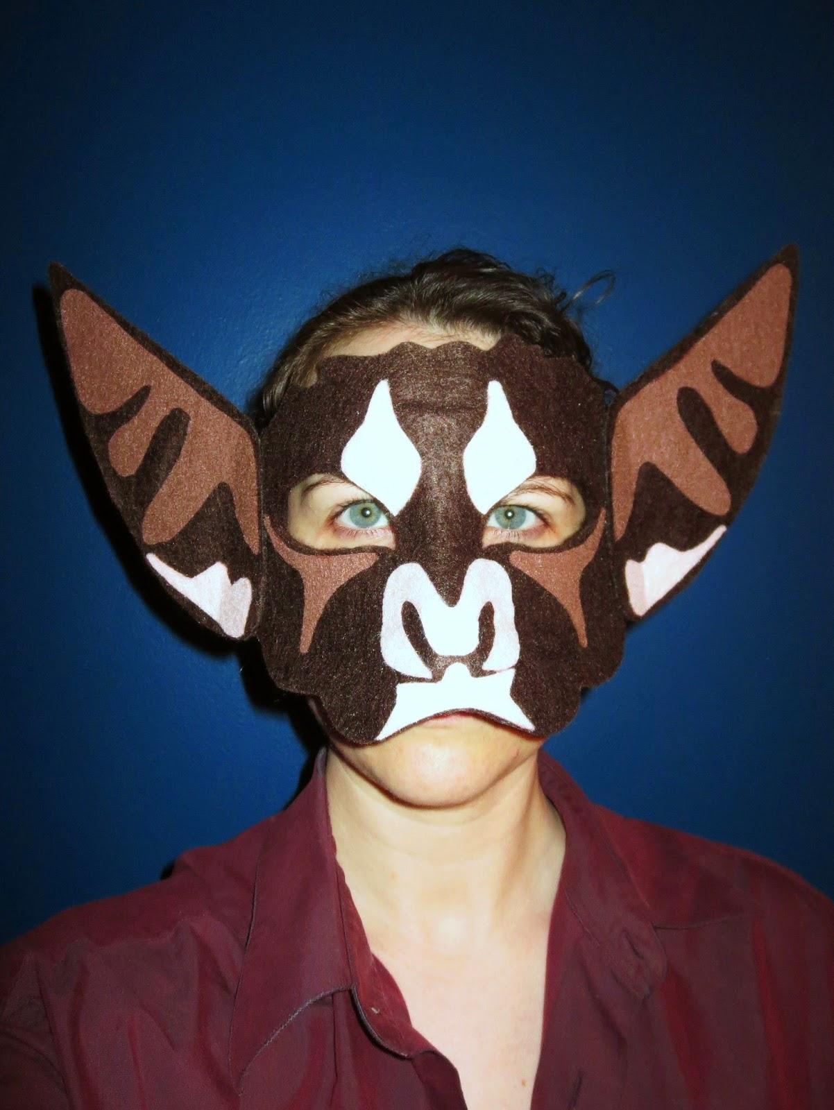 DIY Felt Bat Mask