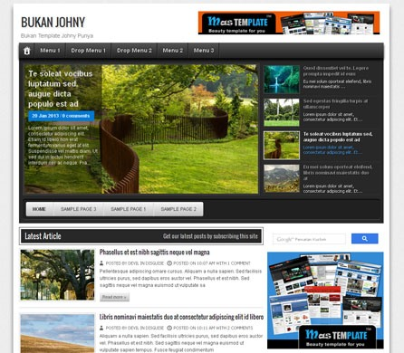 Bukan Johny Blogger Template