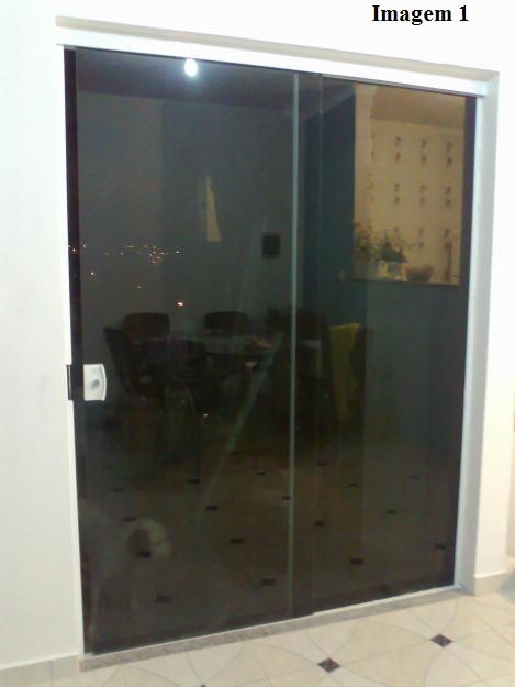 Master vidros produtos porta de correr 2 folhas de for Porta 4 folhas de vidro temperado