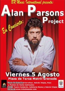 Concierto de Alan Parsons Project en agosto en Motril/Granada y Gibraltar