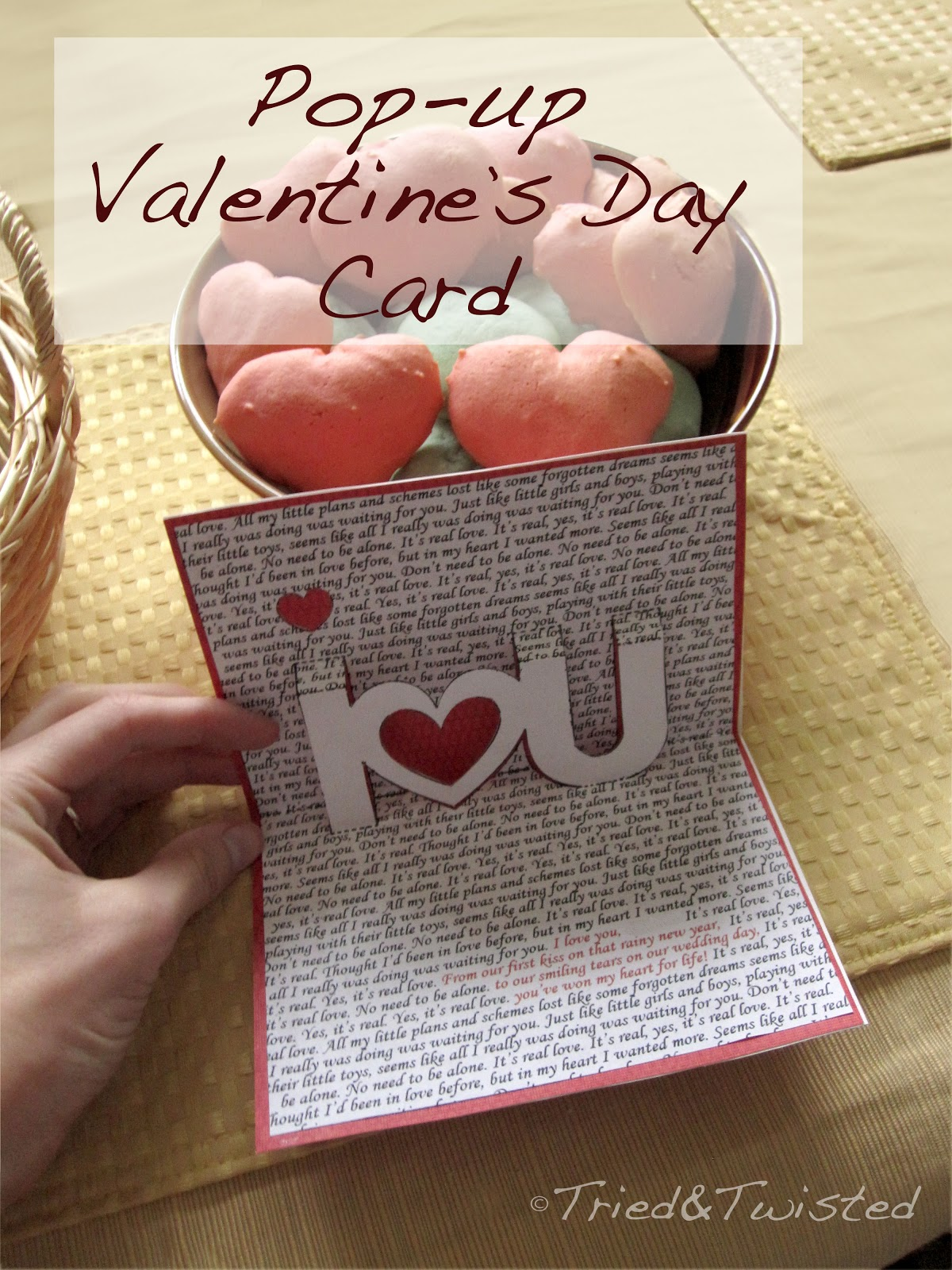 Diy Pop Up Valentines Day Card Via Tried Twisted