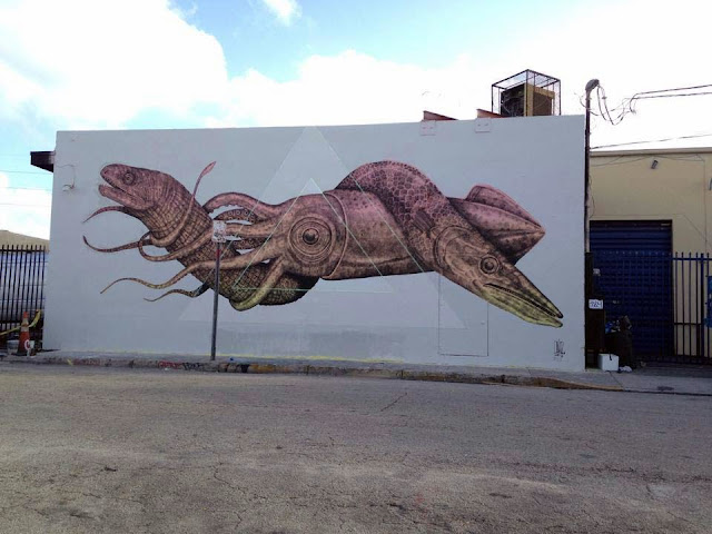 Street Art By Puerto Rican Artist Alexis Diaz In Miami USA for Art Basel 2013. 2