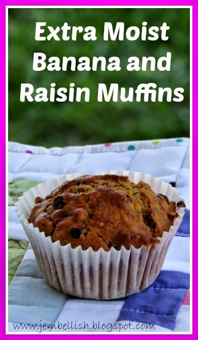 Extra Moist Banana and Raisin Muffins
