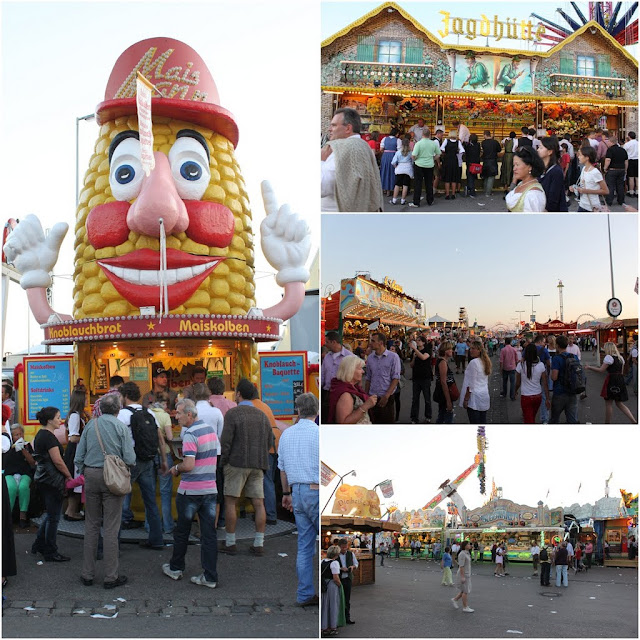 All kinds of funfair rides and food can be found at Octoberfest Festivale in Munich, Germany