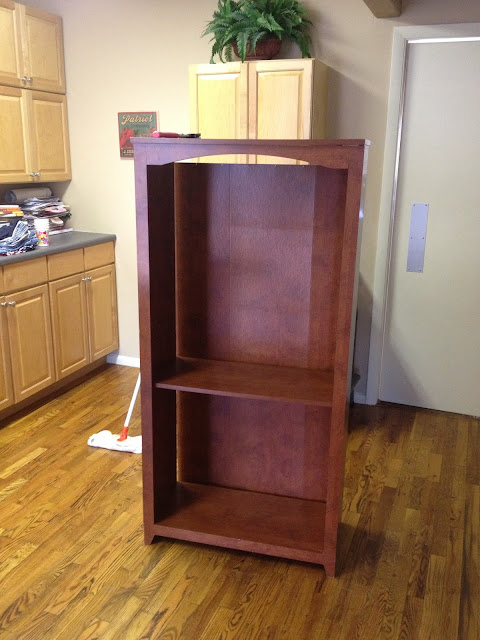 salt and pepper moms laminate bookshelf makeover. Black Bedroom Furniture Sets. Home Design Ideas