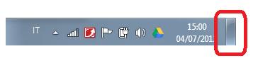 Pulsante Mostra desktop in Windows 7