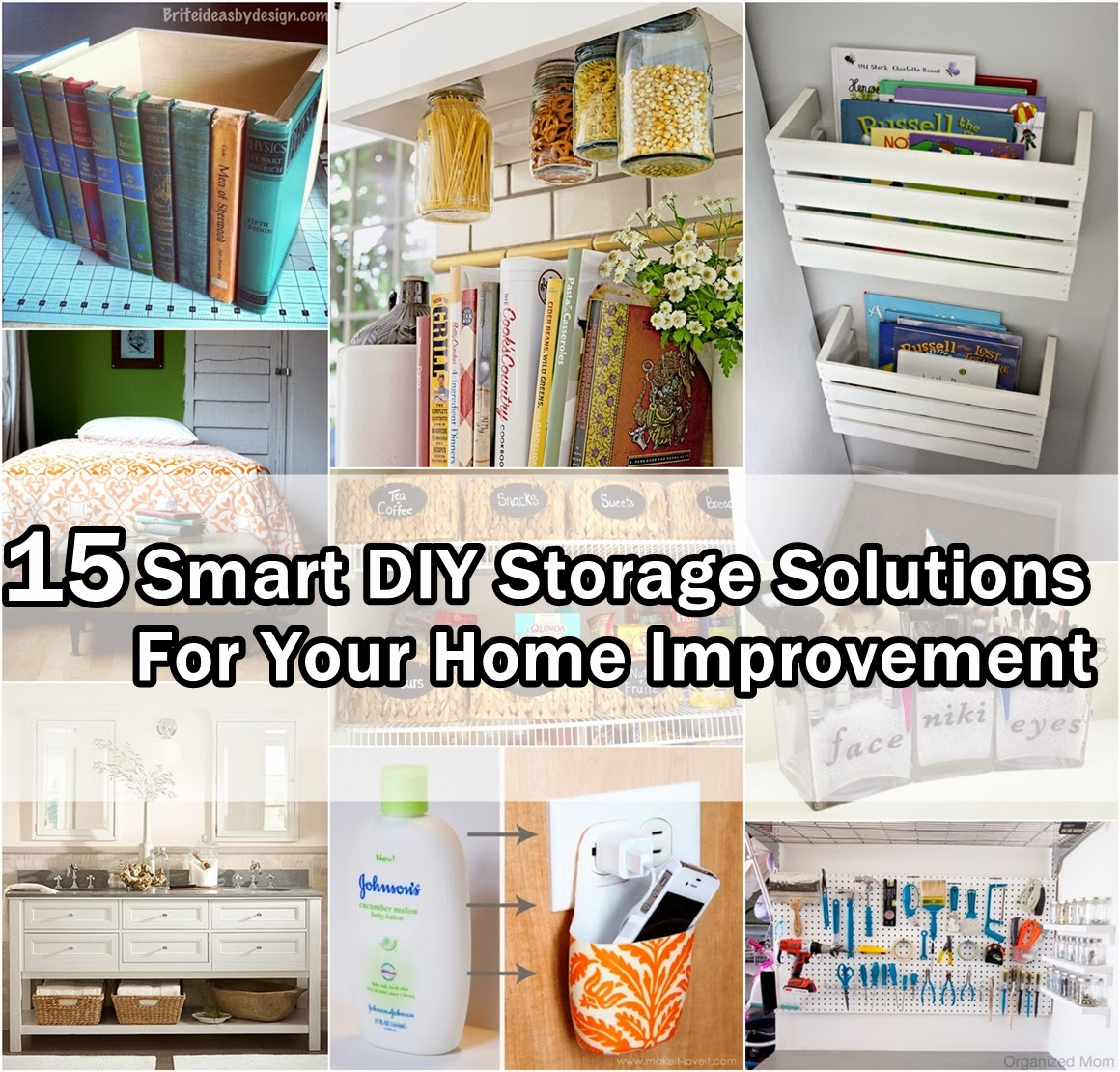 15 Super Smart DIY Storage Solutions For Your Home Improvement