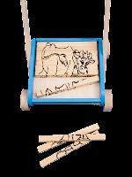 Carrellino puzzle in legno