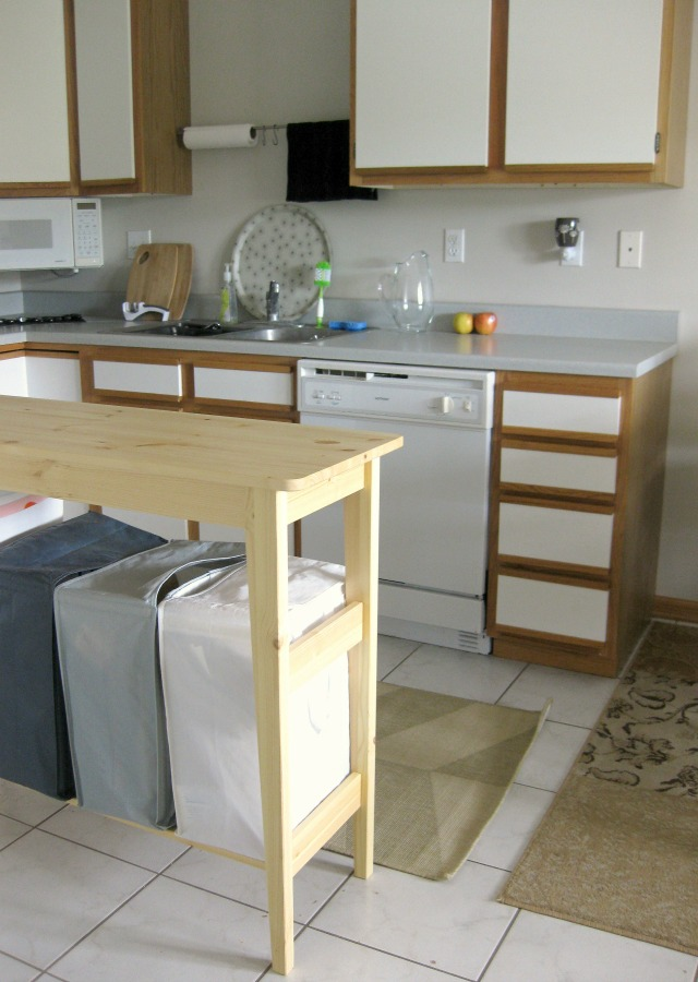 simple IKEA kitchen island recycling