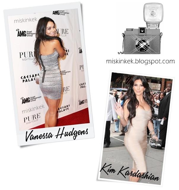 Kim Kardashian Stili-Bandaj Elbiseler