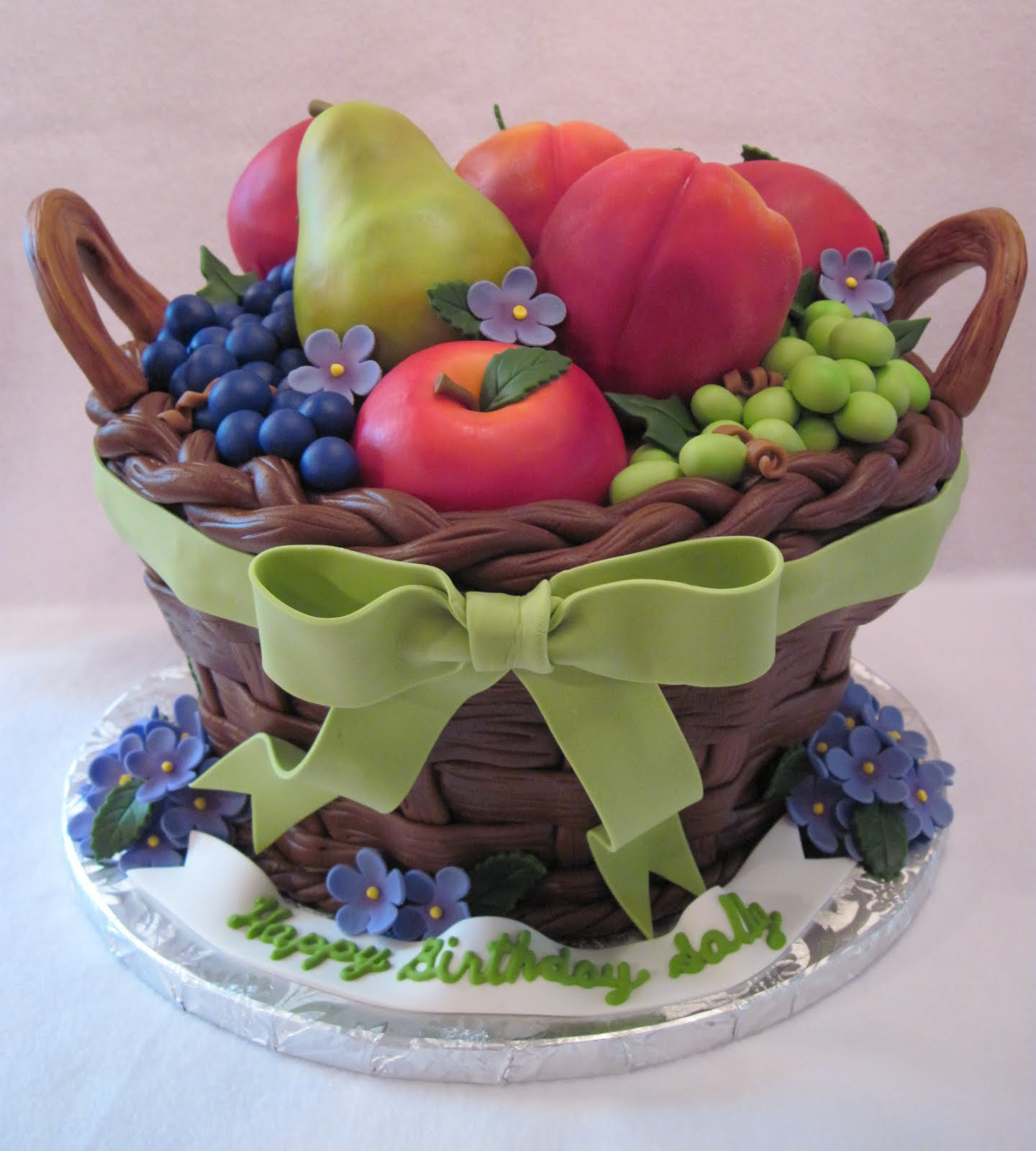 Fondant Fruit Basket Cake