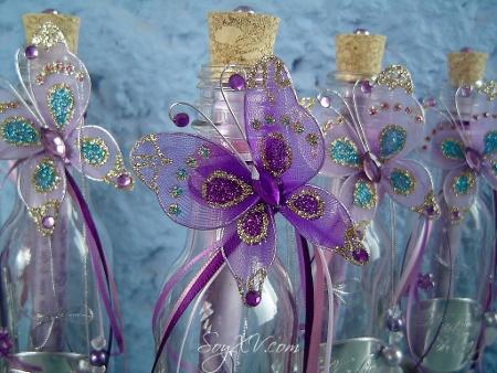 TECNOLOGIAS: Invitacion De 15 Años Con Botella De Vidrio♥