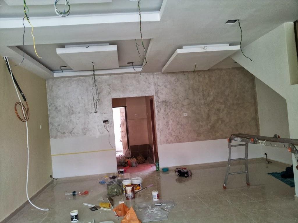 Rahsia hatiku home progress plaster ceiling grill for Plaster ceiling design price