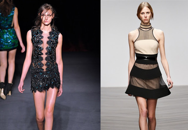 julien mcdonald fall 2013, david koma fall 2013, mesh, full skirt, sequins