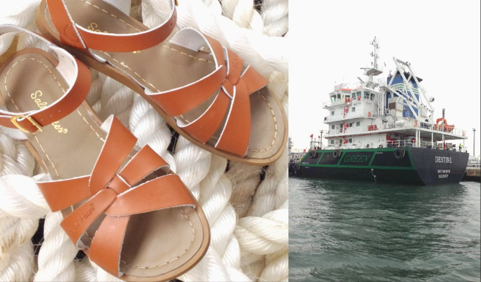 tan saltwater sandals