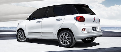 2014 Fiat 500L black on white